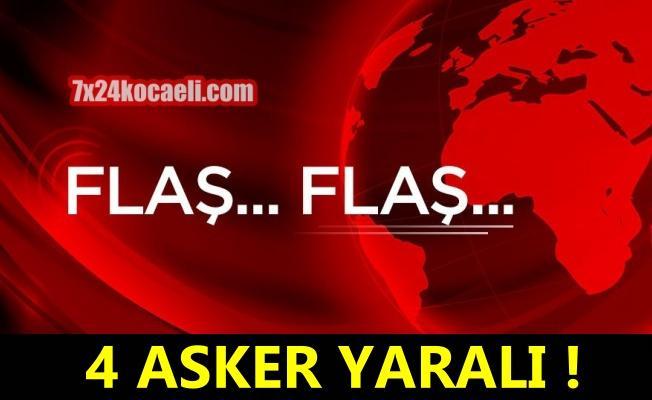 Iğdır'da patlayıcı infilak etti! 4 asker yaralı