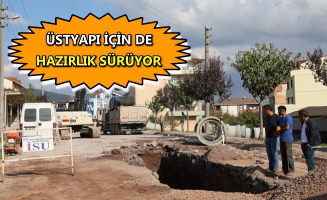 Çamlıtepe'de altyapı çalışmaları tekrar başladı