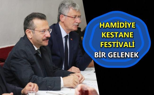 Hamidiye Kestane Festivali'ne yoğun ilgi