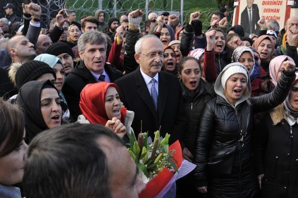 Kılıçdaroğlu, 213 gündür eylemde bulunan işçileri ziyaret etti