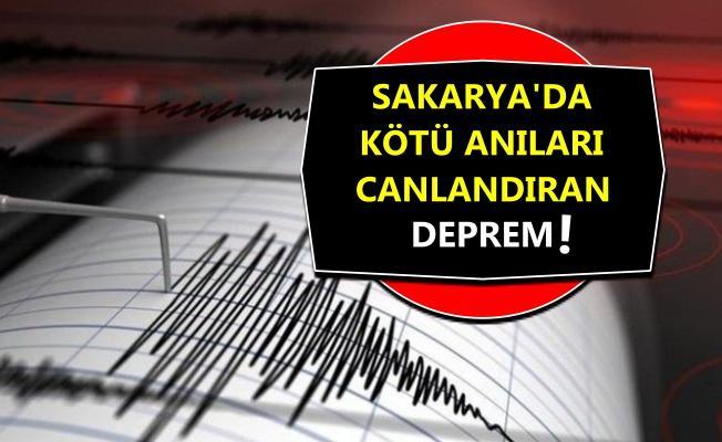 Sakarya Akyazı'da meydana gelen deprem korkuttu!