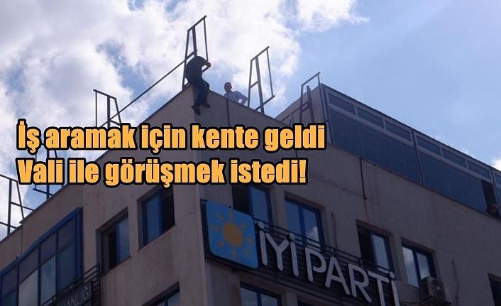 İYİ Parti İl binasında intihara kalkıştı!