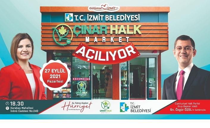 Çınar Halk Market'i Özgür Özel açacak
